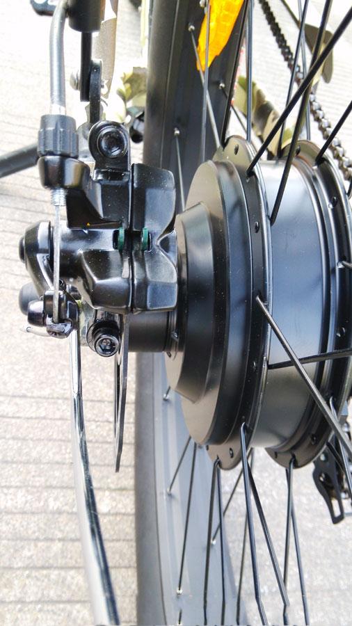 Двигатель 48V 500 Вт и задний дисковый тормоз