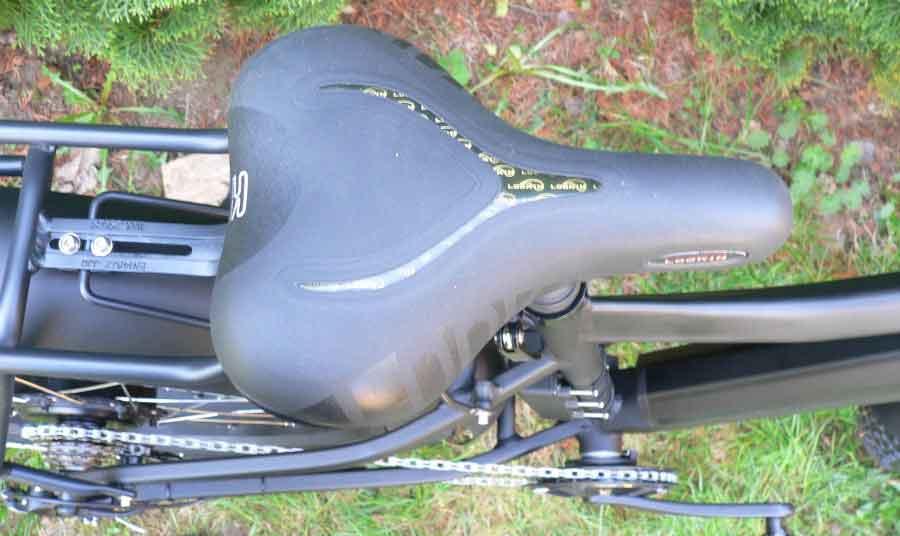 электровелосипед ТОР - седло с гелиевым наполнителем