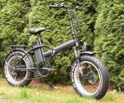 "Электровелосипед -""TOP LUX - Huskies"" (Хаски -10 Д) - Складной фэтбайк"