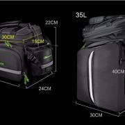 мультифункциональная сумка на багажник- RockBros- габаритные размеры сумки
